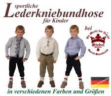 sportliche Kniebundlederhose Lederhose Pfadfinderhose dunkelbraun made in german