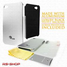 Ultra Delgado aluminio Metal Funda Para Apple Iphone 4/4s + Protector De Pantalla