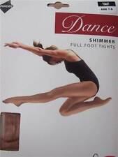 Silky Enfants Filles Pied Brillant Collants De Danse Ballet Clair Toast