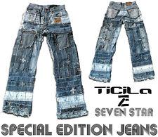 Ticila SEVEN STAR ROCKABILLY Special Edition Rocker Biker Rockstar Vintage JEANS