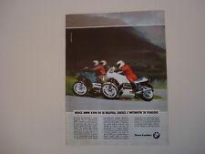 advertising Pubblicità 1990 MOTO BMW K100 K 100 RS 16V