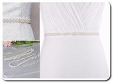 Brautgürtel Taillenband Gürtel Abendkleidgürtel Perlen weiß oder Ivovy Braut