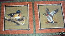 Vip Patos Cojín Paneles Algodón Colchas de retazos de tela - 2 Paneles
