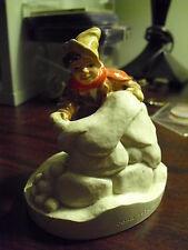 Vintage 1979 Sebastian Miniature Figurine Boy Throwing Snow Balls