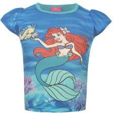 DISNEY t-shirt ARIEL la petite sirène 2-3 / 3-4 / 5-6 / 7-8 ans polochon, NEUF
