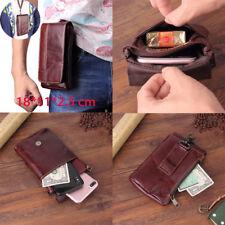 "6,3"" Universal Mini Gürtel Tasche Echt Leder Waist Bag Etui Telefon Ärmel Pocket"
