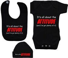Attitude BabyGrow/Bodysuit/Romper/T-Shirt Feeding Bib & Hat/Cap Newborn-12M Acce