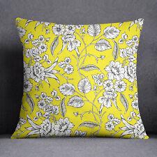 S4Sassy coussin jaune décoratif maison Housse oreiller imprimé Floral