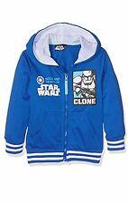 Ragazzi Bambini Star Wars Yoda con zip con Cappuccio Felpa Maglione Giacca età 4-10Yrs