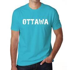 OTTAWA Tshirt Col Rond Homme T-shirt, Homme tshirt, aqua blue, cadeau ideal