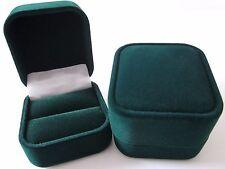 Luxury Velvet RING Jewellery Gift Box Burgundy Blue Green-WHOLESALE-RF10