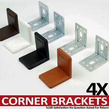 4 Steel Right Angle Corner Brace Bracket Connecting Blocks With Cap Shelves 48mm