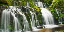 Frank Krahmer: Waterfall Purakaunui Keilrahmen-Bild Leinwand Wasserfall