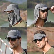 Men Fishing Cap Hat Quick-drying Hiking Outdoor UV Protector Baseball Travel Sun