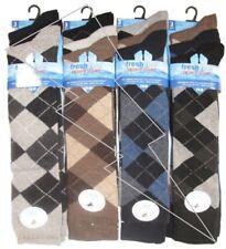 Mens Long Argyle Golf Socks Knee Length Shoe Size 6-11 Diamond Design Adults Lot
