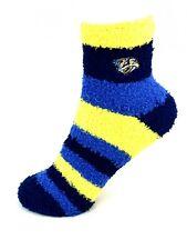 For Bare Feet Nashville Predators Rainbow Stripe Fuzzy Socks