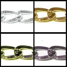 1 Meter Metal Curb Chain - 7x10mm - Various Colour