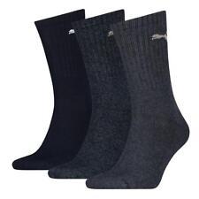 PUMA NEW Mens 3 Pack Crew Sports Socks Navy BNWT