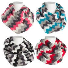 Women's Oversized Zig Zag Infinity Scarf Soft Warm Winter Lightweight Shawl Wrap
