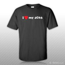 I Love my 4G63 T-Shirt Tee Shirt Gildan S M L XL 2XL 3XL Cotton JDM DSM EVO