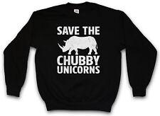 Save the Chubby unicornios suéter Rhino the last Cartoon rinoceronte unicornio Fun