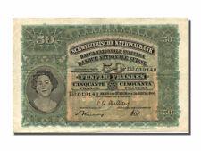 Billets Suisse (Banknotes Switzerland), Suisse, 50 Francs type Jeune fille