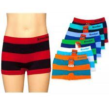 3 Knocker Boys Boxer Shorts Seamless Striped Spandex Kids Soft Underwear S M L