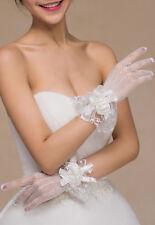 Gants Résilles Fleurs Perles Blanc Ou Rouge Mariage Opéra