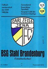 OL 85/86 FC Carl Zeiss Jena - BSG Stahl Brandenburg
