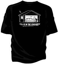"""""""je serai dans le garage"""" classique voiture t-shirt. - volvo 740"""