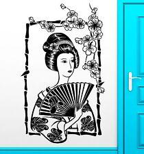 Wall Sticker Vinyl Decal Geisha Japan Japanese Oriental Girl Cool Decor (z2468)
