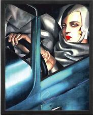 Self-Portrait by Tamara de Lempicka. Framed Fine Art Reproduction Poster