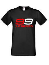 Jorge Lorenzo 99 MotoGP Rider logotipo en negro Rojo Negro T Shirt