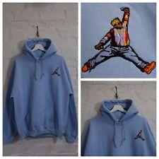 Actual Fact Biggie x Jordan Hip Hop Light Blue Hooded Sweatshirt Hoodie