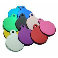 Médaille RONDE gravée pour animaux chien ou chat - 10 couleurs - 2 tailles