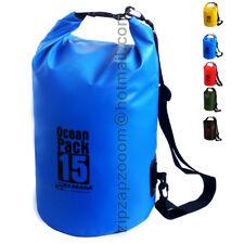 Karana Ocean Dry Pack Waterproof Kayak Day Shoulder Rucksack Bag Duffle Sack 15L