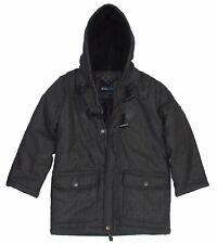 Big Chill Boy's Kid's Hooded Insulated Warm Jacket Coat, Dark Gray, 8