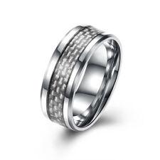 Carbon Fiber Titanium Rings For Men Fashion Business Fine Wedding Bands Ring