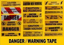 YELLOW WARNING TAPE chevron CAUTION safety scene joke prank sign x5 or 10 METRES