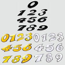 AUTOCOLLANT STICKER 9CM NUMERO CHIFFRE 0 1 2 3 4 5 6 7 8 9 MOTO SCOOT MOBYLETTE