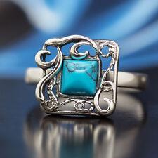 Türkis Silber 925 Ring verschiedene Größen R209