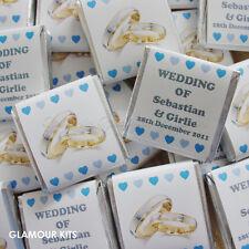 50 Chocolat Personnalisé Mariage Faveurs or argent anneaux coeurs tout couleurs