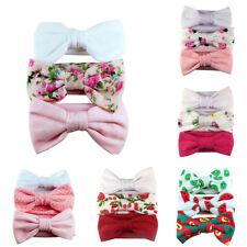3Pcs Kids Baby Girls Lovely Bowknot Headband Elastic Hair Band Headwear Novelty