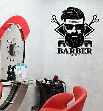 Wall Vinyl Decal Stylist Men's Haircuts Barbershop Interior Decor z4809