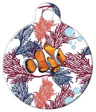 Pet ID Name Tag Coral Clown Fish Personalised Custom DOG CAT Name Tag