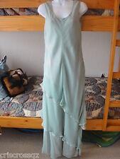 Customer DESIGNER formal gown * SEAFOAM GREEN * RHINESTONE Chiffon TIERS *  6 8