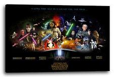 Lein-Wand-Bild: Star Wars Kollage Filmposter (vier Größen) (kein Poster)