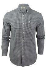Mens Gingham Check Long Sleeved Shirt by Original Penguin
