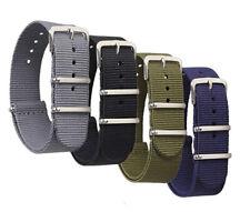 Military Nylon Watch Band Bracelet Wristwatch Strap Buckle Outdoor Belts 18mm