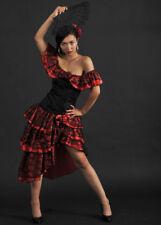 Ladies Red Spanish Senorita Flamenco Costume